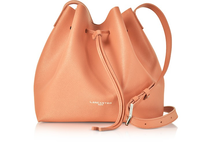 LANCASTER Pur & Element Foulonné Leather Bucket Bag in Canyon