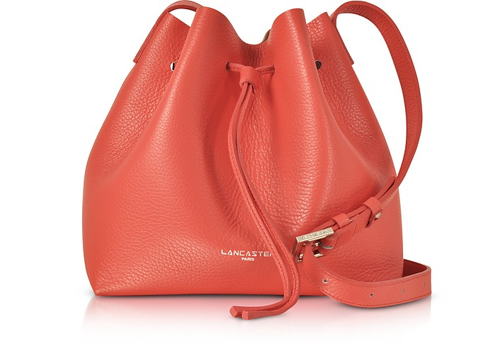 Pur & Element Foulonné Leather Bucket Bag - Lancaster Paris