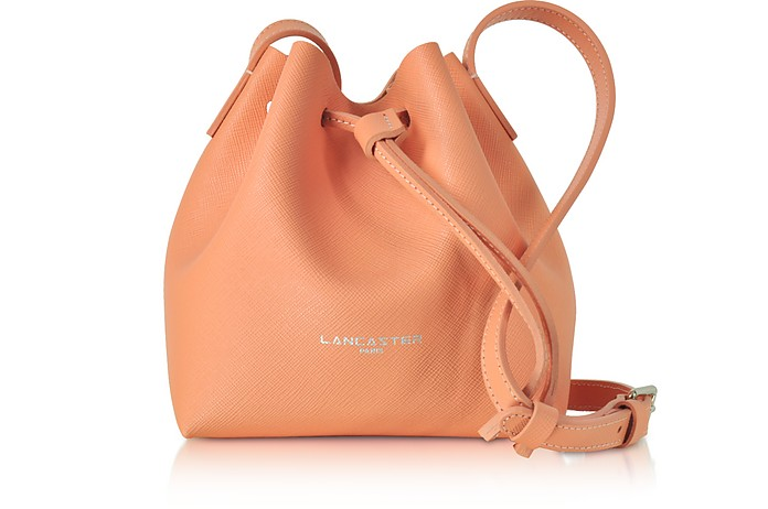 Pur Saffiano Leather Mini Bucket Bag - Lancaster Paris