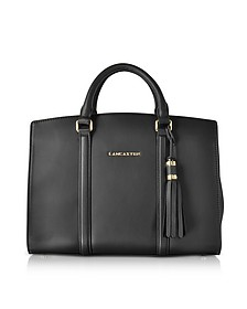 Mademoiselle Ana Leather Large Satchel Bag - Lancaster Paris