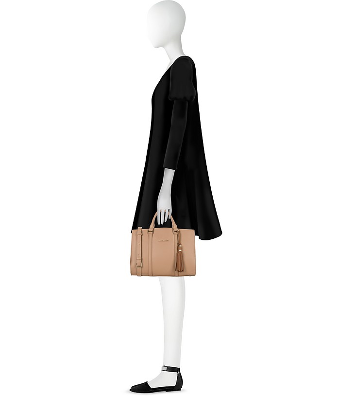 Ana Grained Nudenoisette Grand Leather Mademoiselle Handbag 7nPdpqz7w