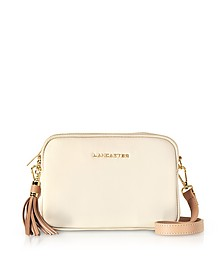 Mademoiselle Ana Beige/Nude Leather Crossbody Bag  - Lancaster Paris