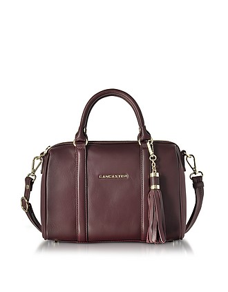 f21003105a57 Mademoiselle Ana Grained Leather Small Duffle Bag - Lancaster Paris