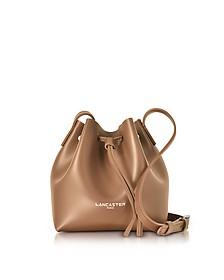Pur Smooth Leather Mini Bucket Bag - Lancaster Paris