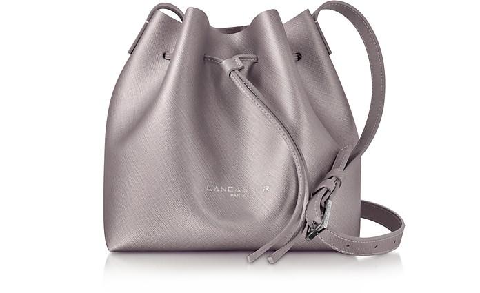 Pur & Element Rose Gold Saffiano Leather Mini Bucket Bag - Lancaster Paris