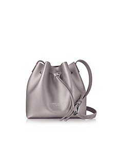 Pur & Element Rose Gold Saffiano Leather Mini Bucket Bag - Lancaster Paris
