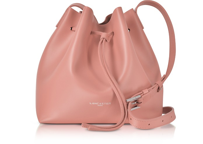 Pur & Element Smooth Leather Small Bucket Bag - Lancaster Paris