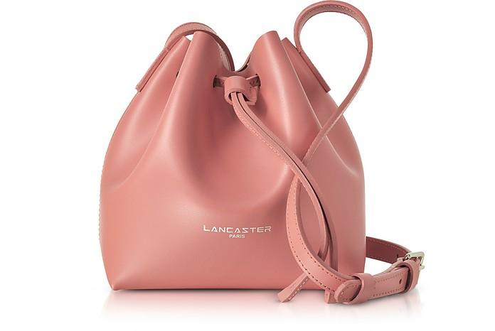 Pur & Element Smooth Leather Mini Bucket Bag - Lancaster Paris