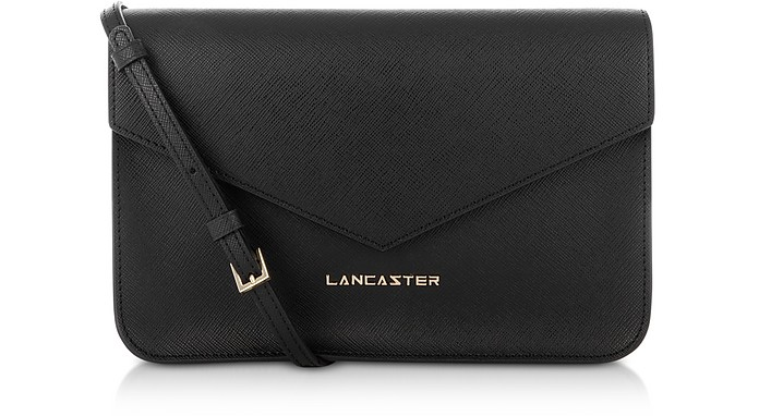Clutch in Pelle Saffiano Nera  - Lancaster Paris