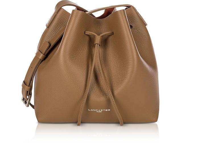 Pur and Element Foulonné Camel/Pumpkin Small Bucket Bag  - Lancaster Paris
