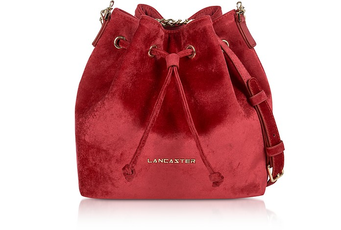Velvet Small Bucket Bag - Lancaster Paris