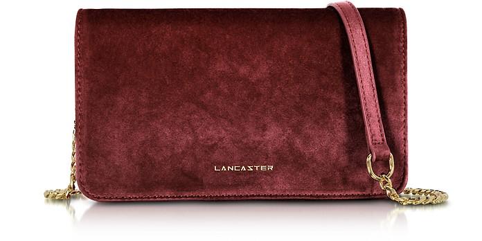 Velvet Flap Clutch w/Strap - Lancaster Paris