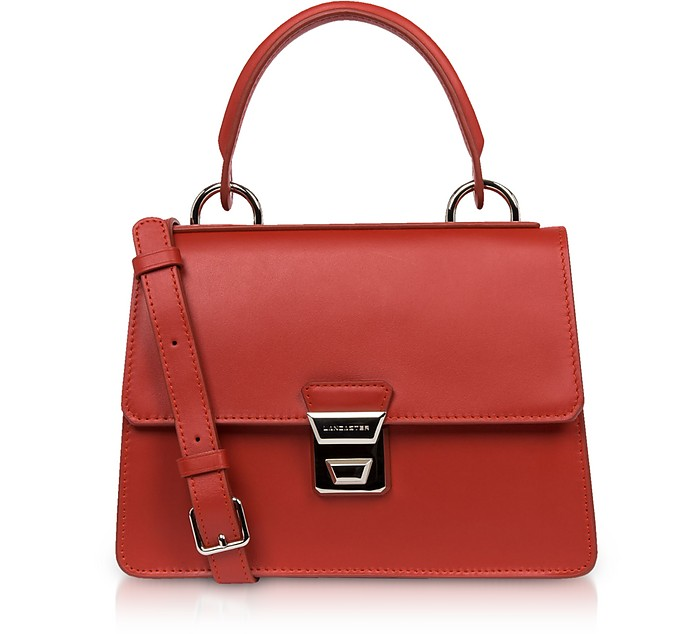 Garance Leather Top Handle Shoulder Bag - Lancaster Paris