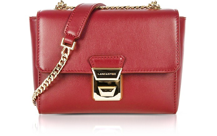 Gena Or Leather Small Crossbody Bag - Lancaster Paris