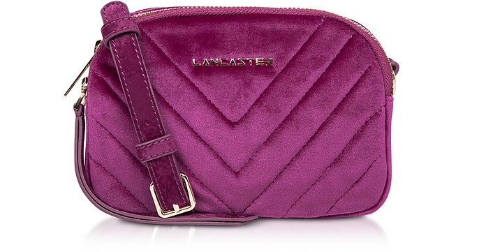 Quilted Velvet Couture Mini Camera/Belt Bag - Lancaster Paris