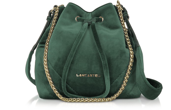Quilted Velvet Couture Small Bucket Bag - Lancaster Paris