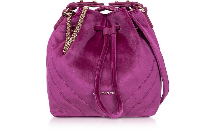 Quilted Velvet Couture Small Bucket Bag - Lancaster Paris