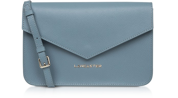 Adeline Saffiano Leather Flap Clutch w/Shoulder Strap - Lancaster Paris