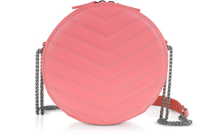 Parisienne Quilted Leather Round Crossbody Bag - Lancaster Paris