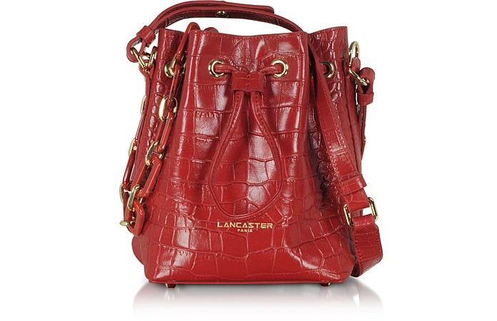 Exotic Croco Mini Bucket Bag - Lancaster Paris
