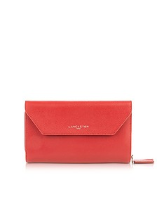 Adele Leather Continental Wallet - Lancaster Paris