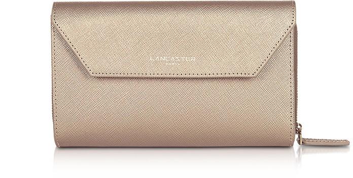 Adele Leather Continental Wallet - Lancaster Paris