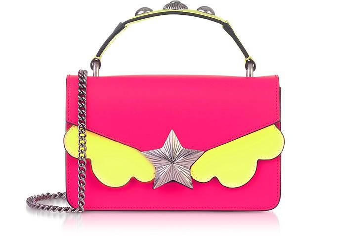 Pink & Yellow Fluo Top Handle Vega Mini Bag - Les Jeunes Etoiles