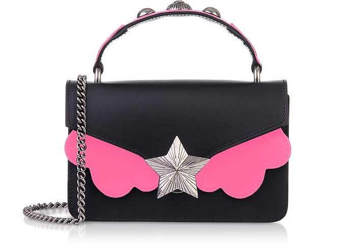Black & Pink Fluo Top Handle Vega Mini Bag - Les Jeunes Etoiles
