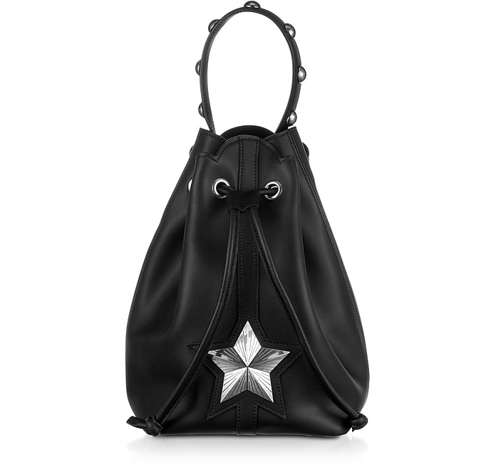 Black Leather Vega Bucket Bag - Les Jeunes Etoiles