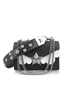 Black&White Leather Vega Medium Shoulder Bag - Les Jeunes Etoiles