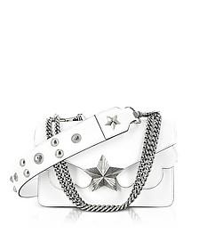 White Leather Vega Medium Shoulder Bag - Les Jeunes Etoiles