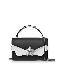Black&White Leather Vega Mini Shoulder Bag - Les Jeunes Etoiles