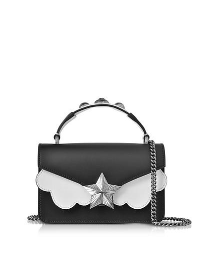 Vega Mini Bolso de mano de Cuero Blanco y Negro - Les Jeunes Etoiles