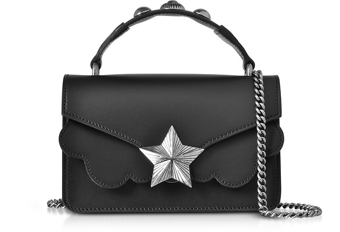 Black Leather Vega Mini Shoulder Bag - Les Jeunes Etoiles