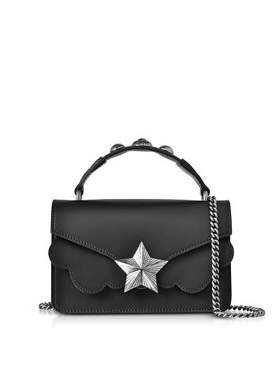 Vega Mini Bolso de Mano de Cuero Negro - Les Jeunes Etoiles