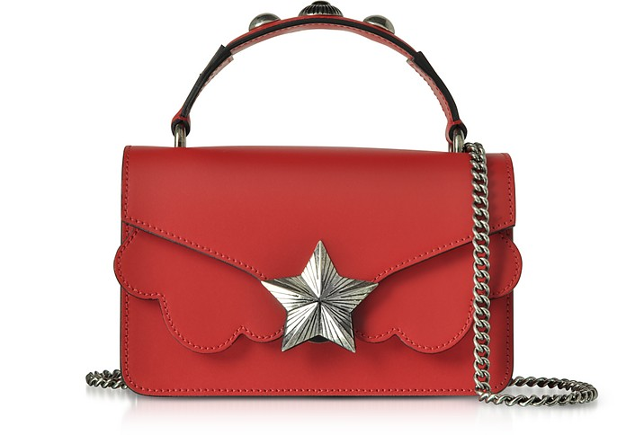 Red Leather Vega Mini Shoulder Bag - Les Jeunes Etoiles