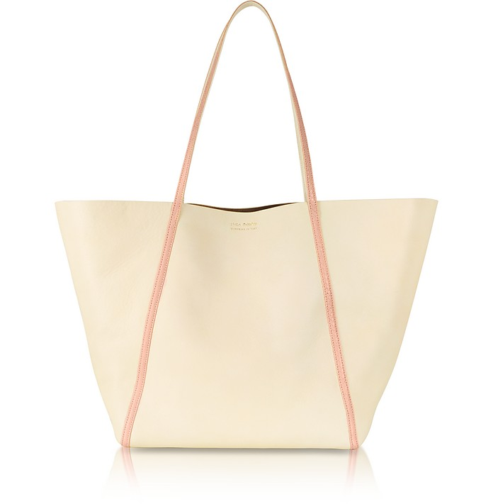 Contrasting Ayers and Calf Leather Tote - Linda Farrow