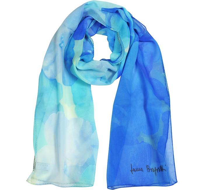 Floral Print Chiffon Silk Stole - Laura Biagiotti