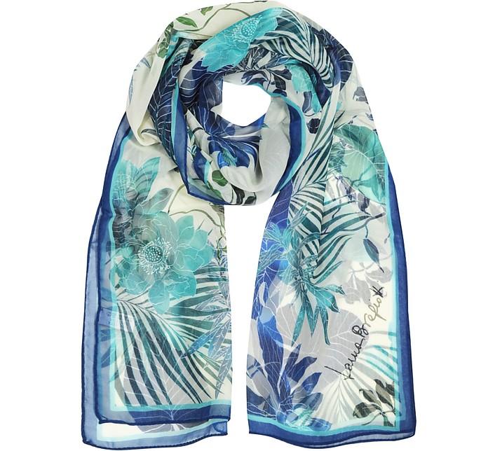 Tropical Print Chiffon Silk Stole - Laura Biagiotti
