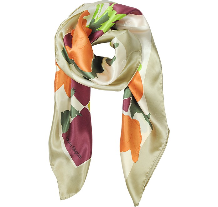 grandi affari sulla moda sentirsi a proprio agio ultimo design Foulard in Twill di Seta Laura Biagiotti Oro su FORZIERI