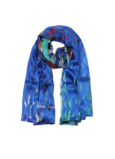 Triangle Printed Twill Silk Stole - Laura Biagiotti