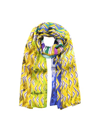 Triangle Printed Twill Silk Stole - Laura Biagiotti