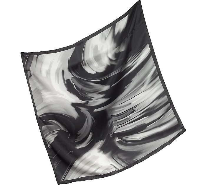 Waves Printed Twill Silk Bandana - Laura Biagiotti