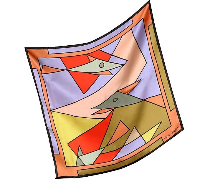 Geometric Print Silk Bandana - Laura Biagiotti