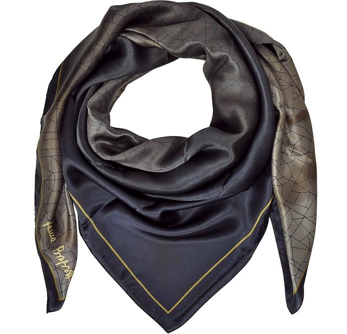 Shaded Geometric Printed Silk Shawl  - Laura Biagiotti