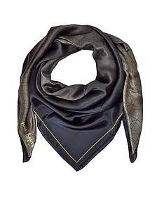 Shaded Geometric Printed Silk Shawl  - Laura Biagiotti