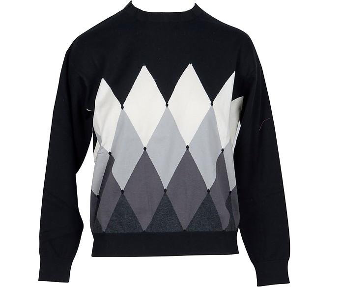 Black Diamond Woven Cotton Women's Sweater - Ballantyne