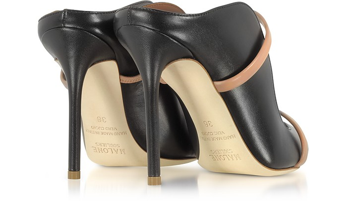 cf88d98f2e Maureen Black and Nude Nappa Leather High Heel Mules - Malone Souliers.  AU$819.99 Actual transaction amount