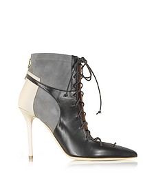 Color Block Nappa Leather and Stretch Suede Montana Bootie - Malone Souliers