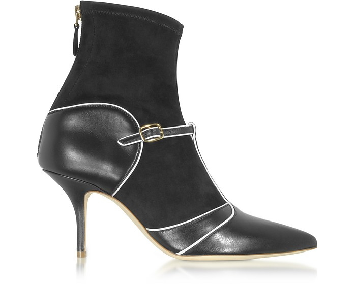 Color Block Nappa Leather and Stretch Suede Sadie Bootie - Malone Souliers by Roy Luwolt